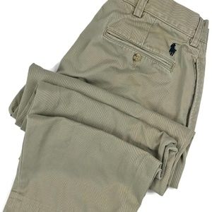Ralph Lauren Khaki Pleated Chino Pants Size 33x29